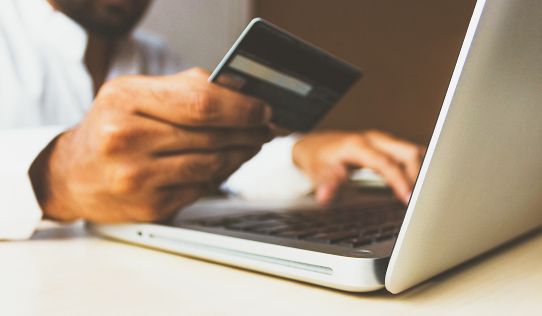 customer pays by credit card online