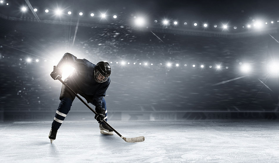 ​Hockey player on ice.