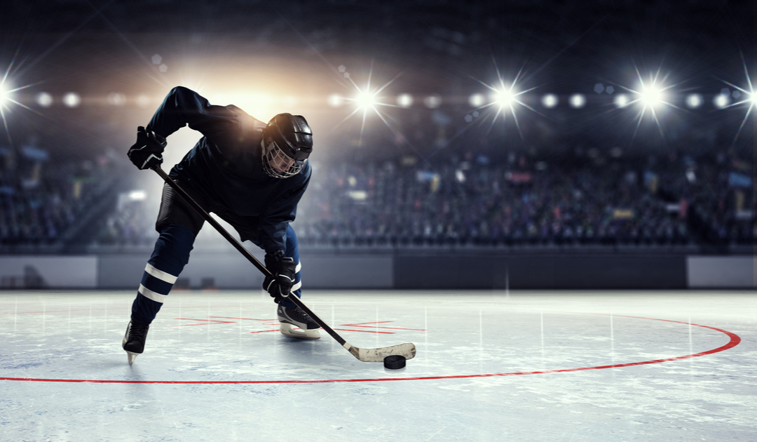 Hockey player on the ice.